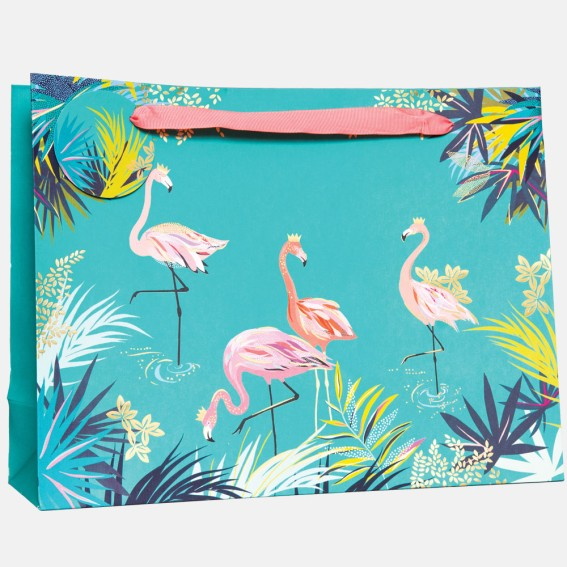 Green Flamingo Large Gift Bag