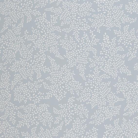 Pale Blue Little Leaves Wallpaper SAMPLE