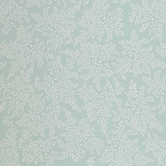 Duck Egg Little Leaves Wallpaper SAMPLE