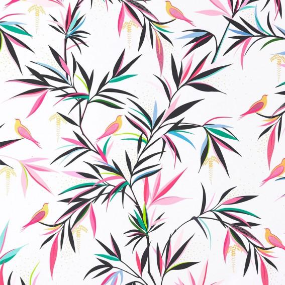 Bamboo White Sateen Fabric