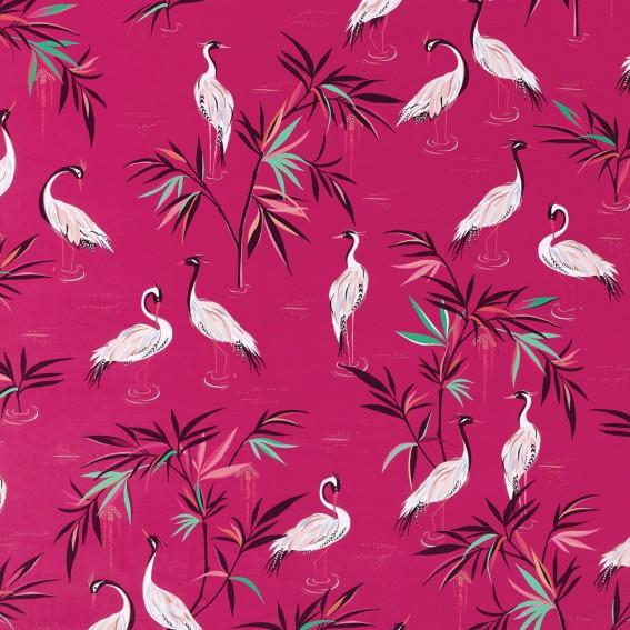 Heron Fuchsia Velvet Fabric