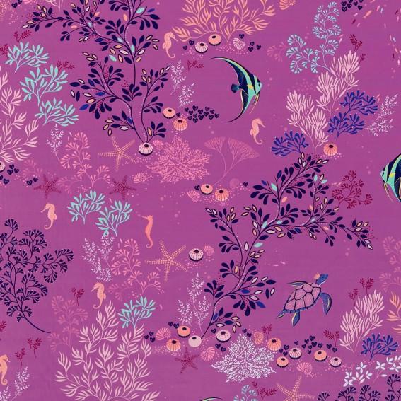 Underwater Mauve Velvet Fabric