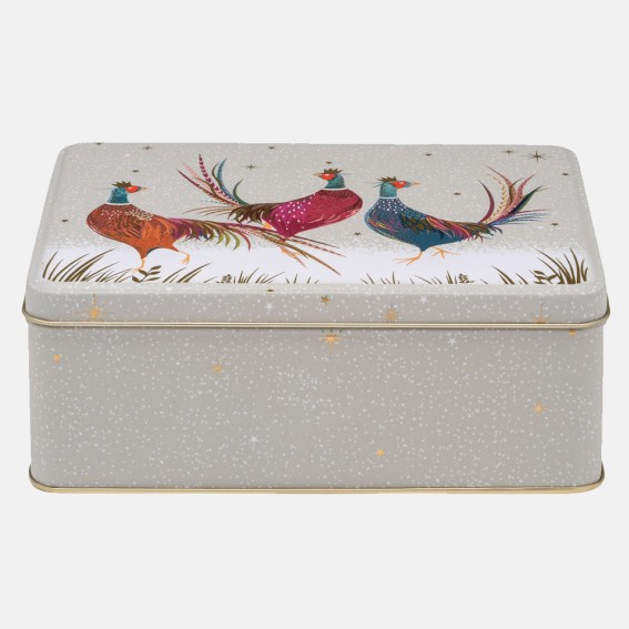 Pheasant Deep Rectangular Tin