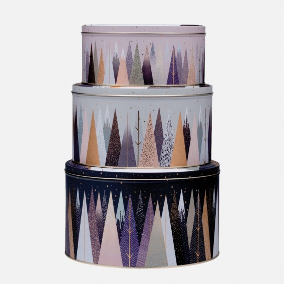 Frosted Pines Round Cake Tins - Set of 3