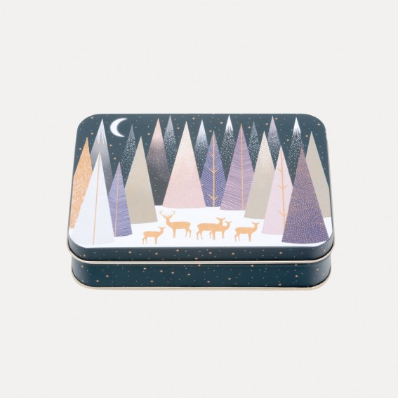 Frosted Pines Small Rectangular Tin