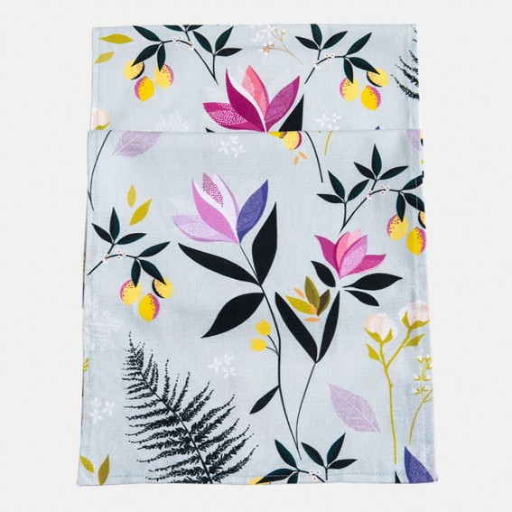 Orchard Floral Duck Egg Table Runner