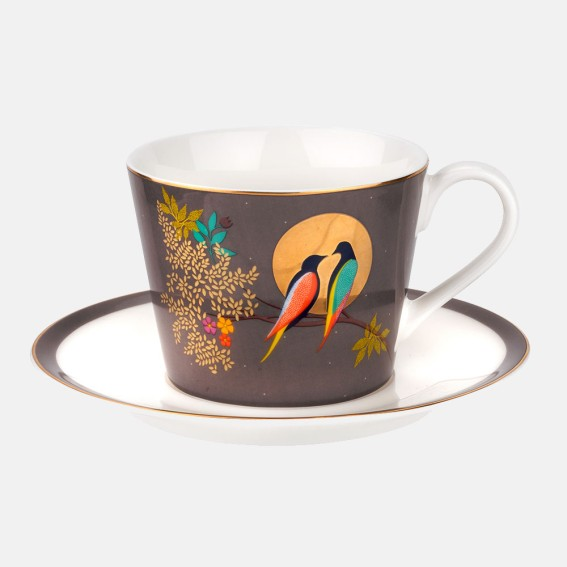 Birds In Moon Teacup