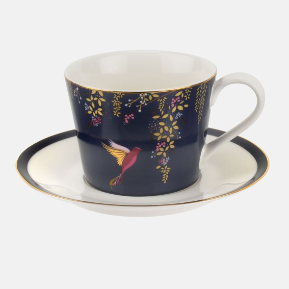Navy Hummingbird Teacup