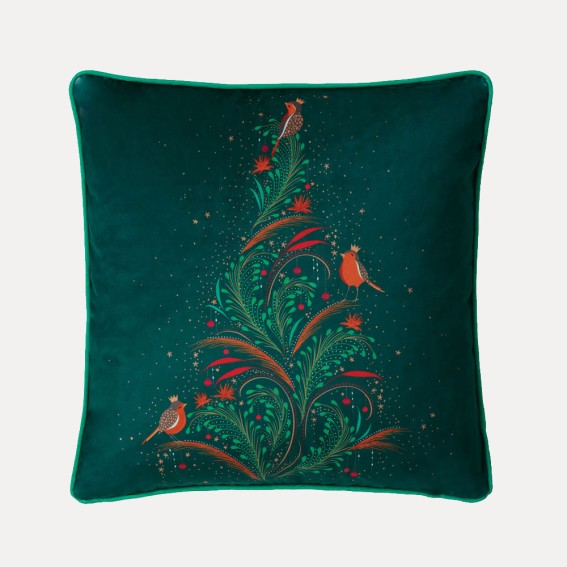 Robin Tree Feather Filled Cushion