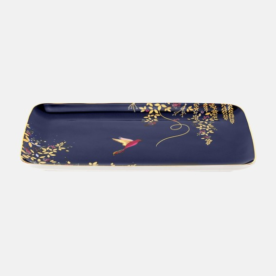 Navy Hummingbird Trinket Tray
