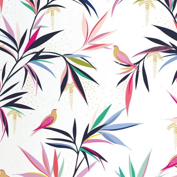 White Bamboo Wallpaper SAMPLE