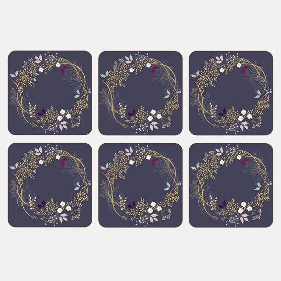 Winter Foliage Coasters - Set of 6