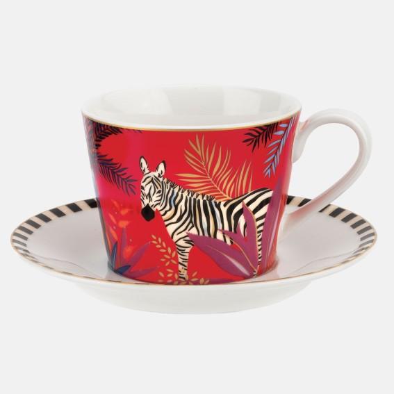 Zebra Teacup & Saucer