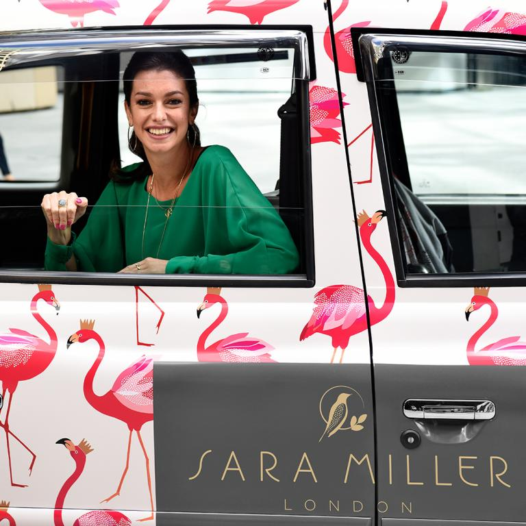 Sara Miller Flamingos take over London