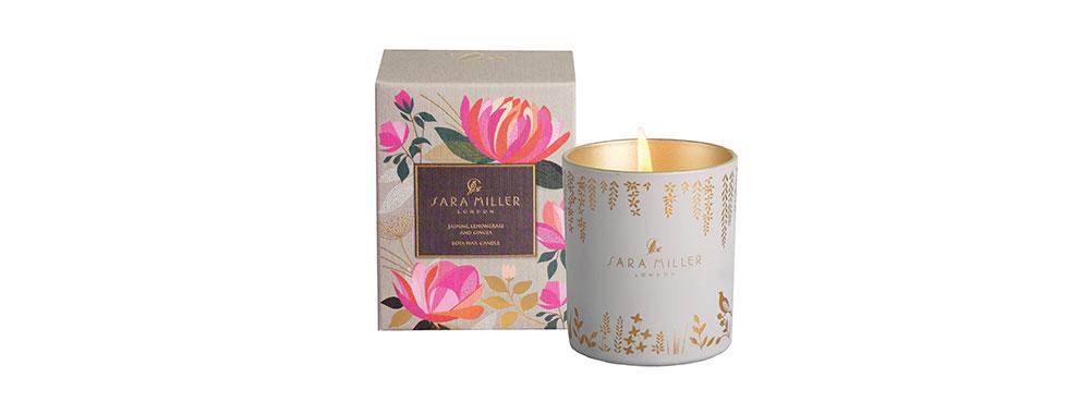 Jasmine, Lemongrass & Ginger Candle | Sara Miller London