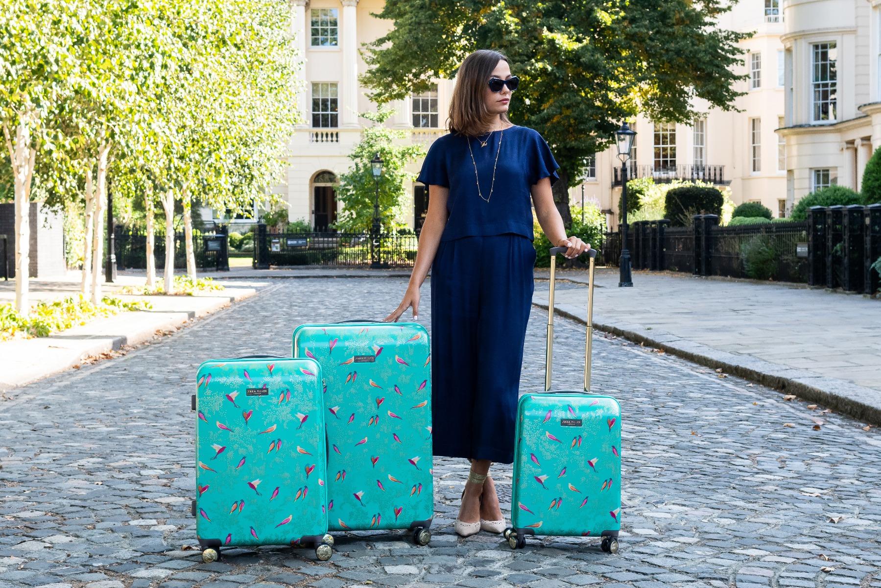Green Birds Luggage